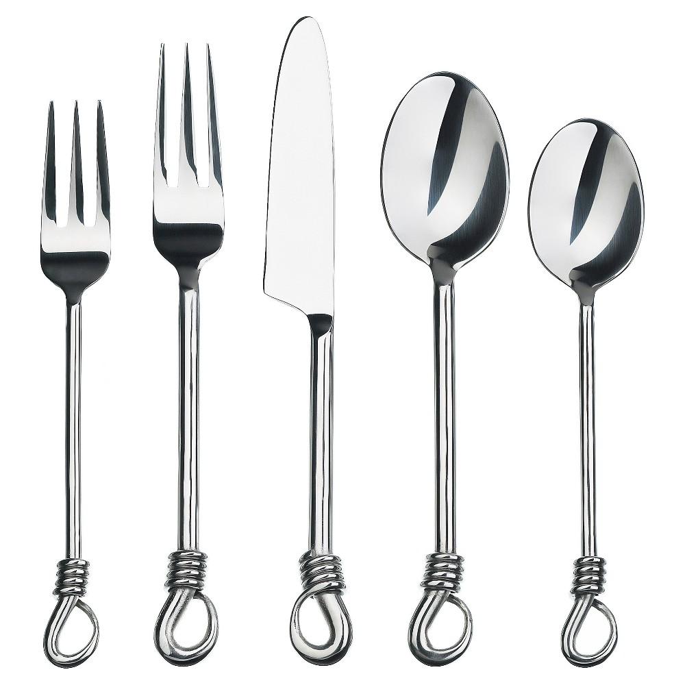 Image of Gourmet Settings Twist Silverware Set - 20pc
