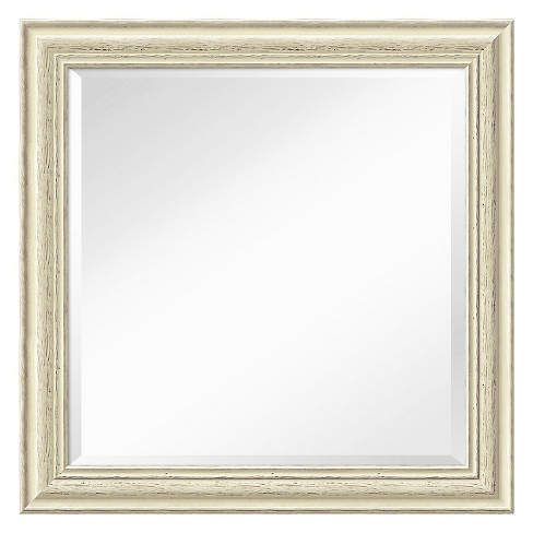 Square Country Decorative Wall Mirror White - Amanti Art - image 1 of 9