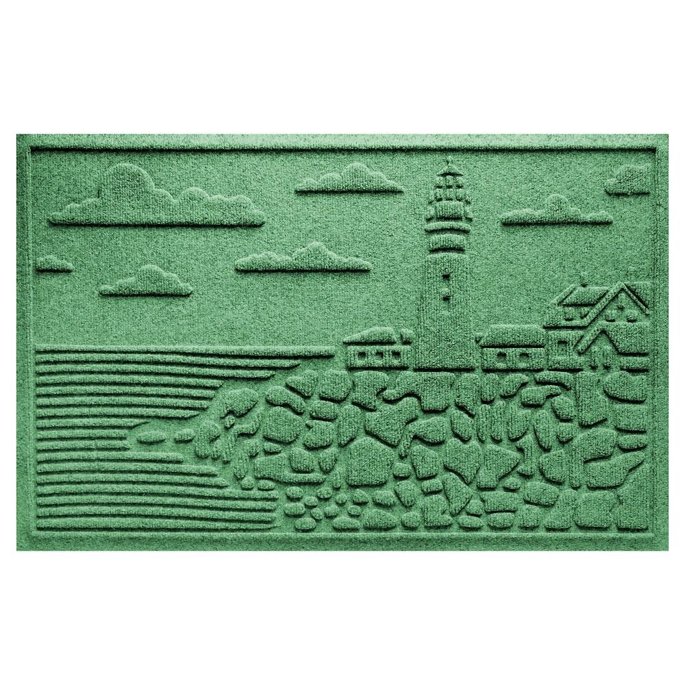 Light Green Solid Pressed Doormat - (2'X3') - Bungalow Flooring
