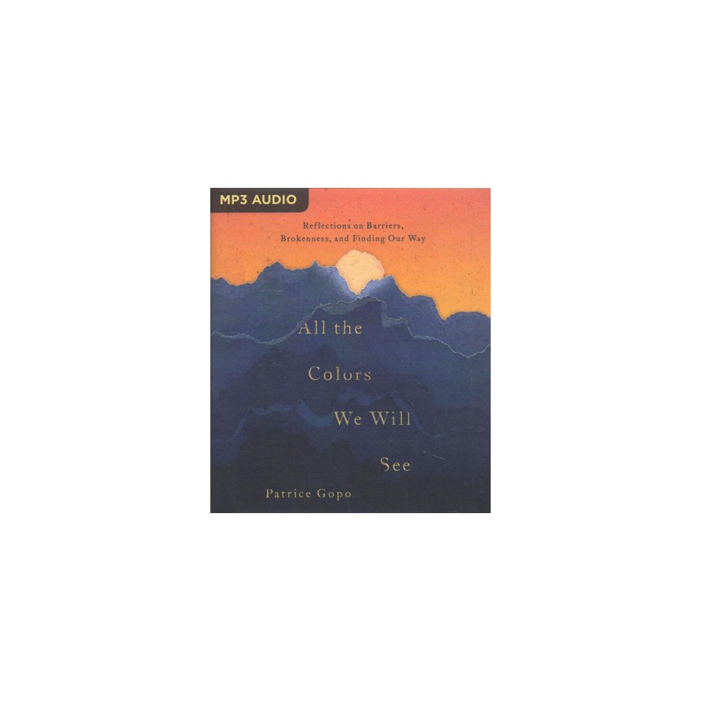 All the Colors We Will See : Reflections on Barriers, Brokenness, and Finding Our Way - (MP3-CD)