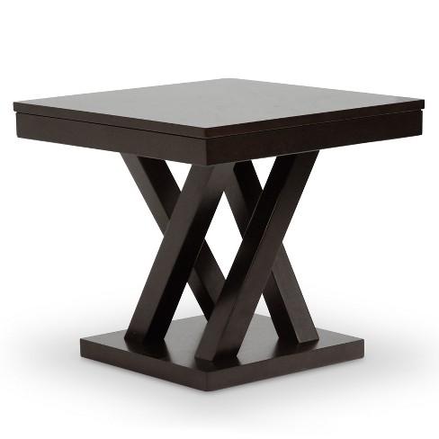 Everdon Modern End Table Dark Brown - Baxton Studio - image 1 of 4
