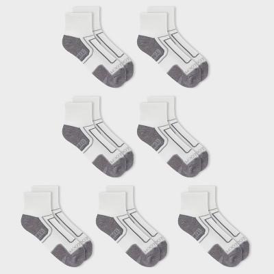Fruit of the Loom Men's 7pk Cotton Pack Ankle Socks - White 6-12