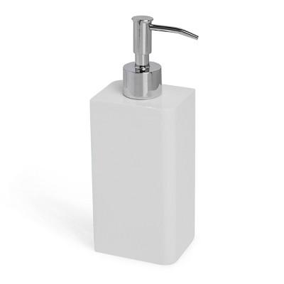 Lacquer Lotion Dispenser White - Cassadecor