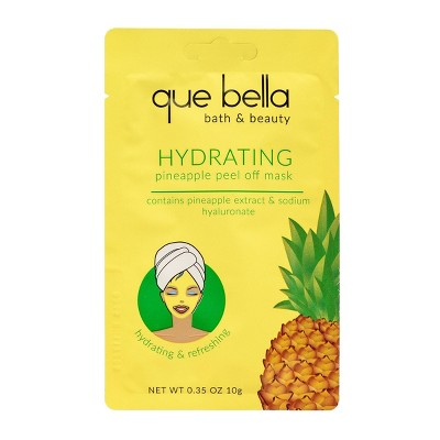 Que Bella Hydrating Pineapple Peel Off Face Mask - 0.35oz