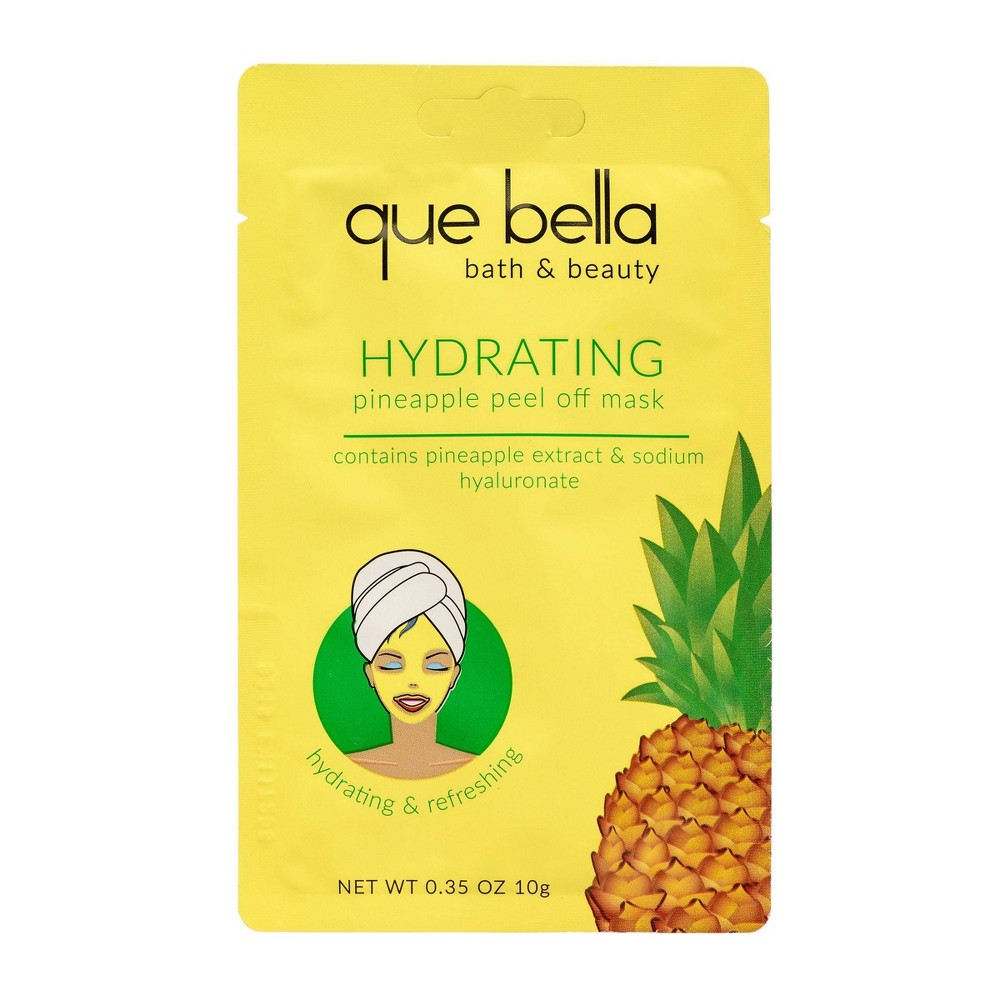 Image of Que Bella Hydrating Pineapple Peel Off Face Mask - 0.35oz