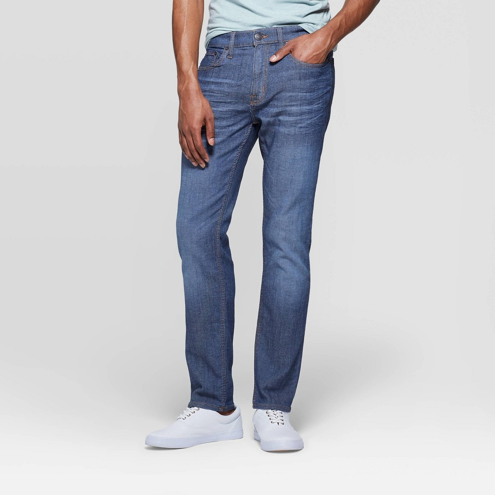 Men's 30 Regular Slim Fit Jeans - Goodfellow & Co Medium Blue 32x30