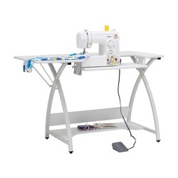 Sew Ready STDN-38017 Venus Sewing Machine Craft Hobby Table Computer Desk, White