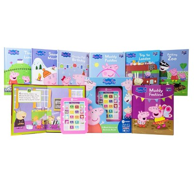 Pi Kids Peppa Pig Electronic Me Reader 8-Book Library Boxed Set