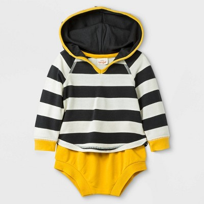 Baby Boys' 2pc Hoodie Top and Bottom Set - Cat & Jack™ Black/Yellow 0-3M