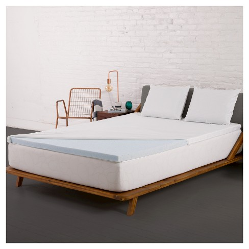 2 Gel Memory Foam Mattress Topper With Cover Authentic Comfort