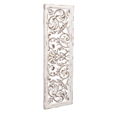 ZM Home 35  Vintage Scroll Design Wall Panel White