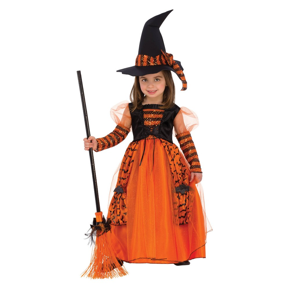 Girls' Sparkle Witch Halloween Costume S, Multicolored
