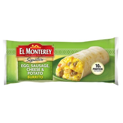 El Monterey Egg Sausage Cheese and Potato Frozen Breakfast Burrito - 4.5oz