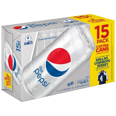 Diet Pepsi - 15pk/12 fl oz Cans