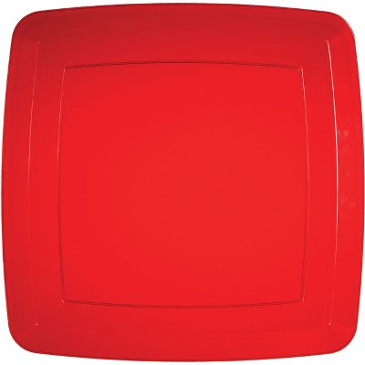 24ct Translucent Red Banquet Plates Red