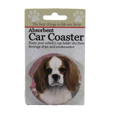 "Car Coaster 2.5"" King Charles Cavalier Coaster Absorbant Car Pet Dog E & S Pet  -  Coasters"