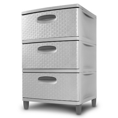3 Drawer Storage Unit Gray - Sterilite