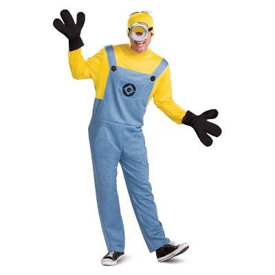 Adult Despicable Me 2 Minions Stuart Deluxe Halloween Costume XL