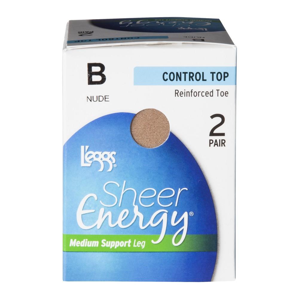 Image of L'eggs 2pk Sheer Energy Women's Control Top Pantyhose - 35400 - Nude A, Women's