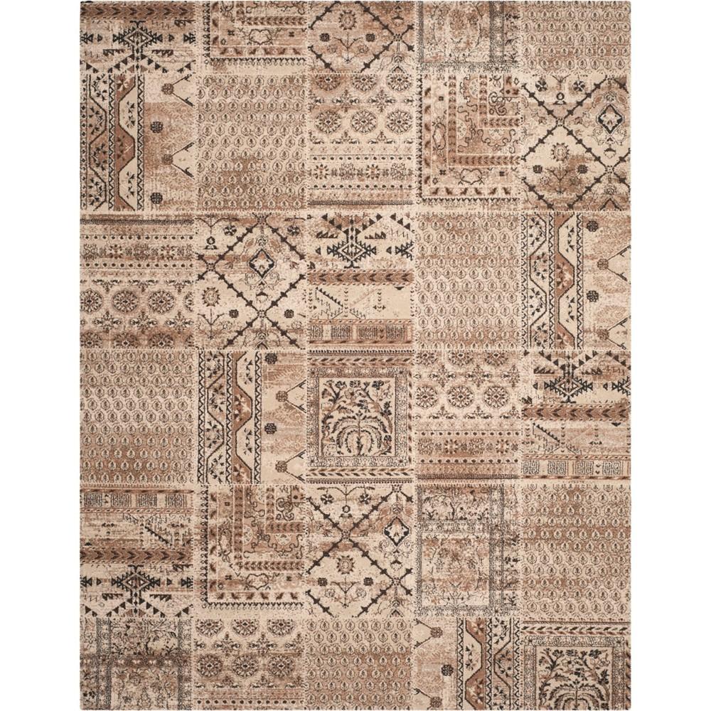 10'X14' Tribal Design Loomed Area Rug Ivory - Safavieh, White
