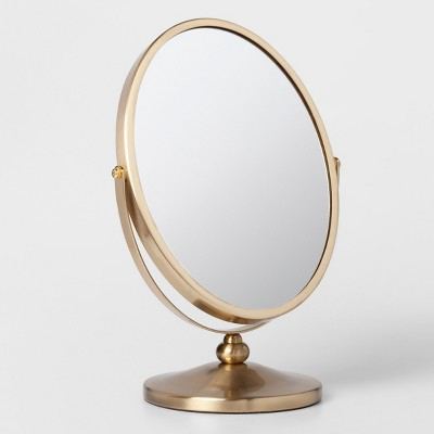 Oval Vanity Mirror Brass - Threshold™