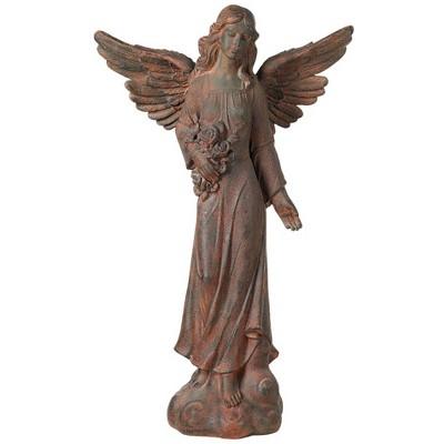 "Kensington Hill Outdoor Statue 41 1/2"" High English Tudor Angel Sculpture for Yard Garden Patio Deck Home Entryway Hallway"