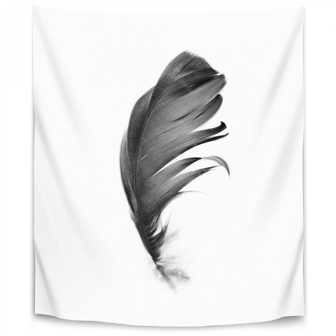 Black Feather By Sisi And Seb Wall Tapestry Target