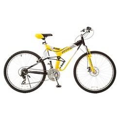 TITAN Glacier Pro Alloy Suspension Mountain Bike, Yellow and Black, Adult Unisex