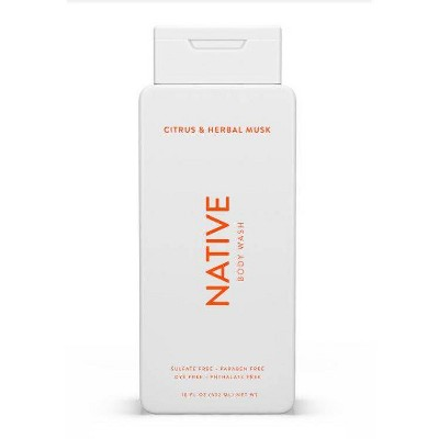 Native Citrus and Herbal Musk Body Wash for Men - 18oz
