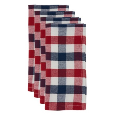 4pk Cotton Gingham Table Napkins - Saro Lifestyle