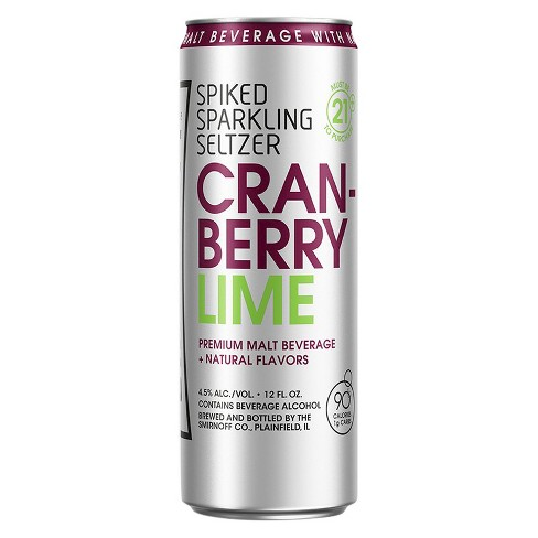 Smirnoff® Spiked Seltzer Cranberry Lime - 6pk / 12oz Cans - image 1 of 1