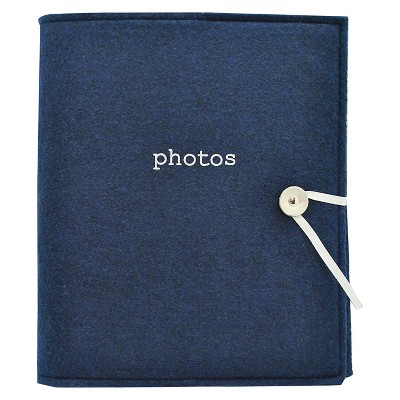 Felt Photo Album Navy - Holds Two 4 x6  Photos per Page