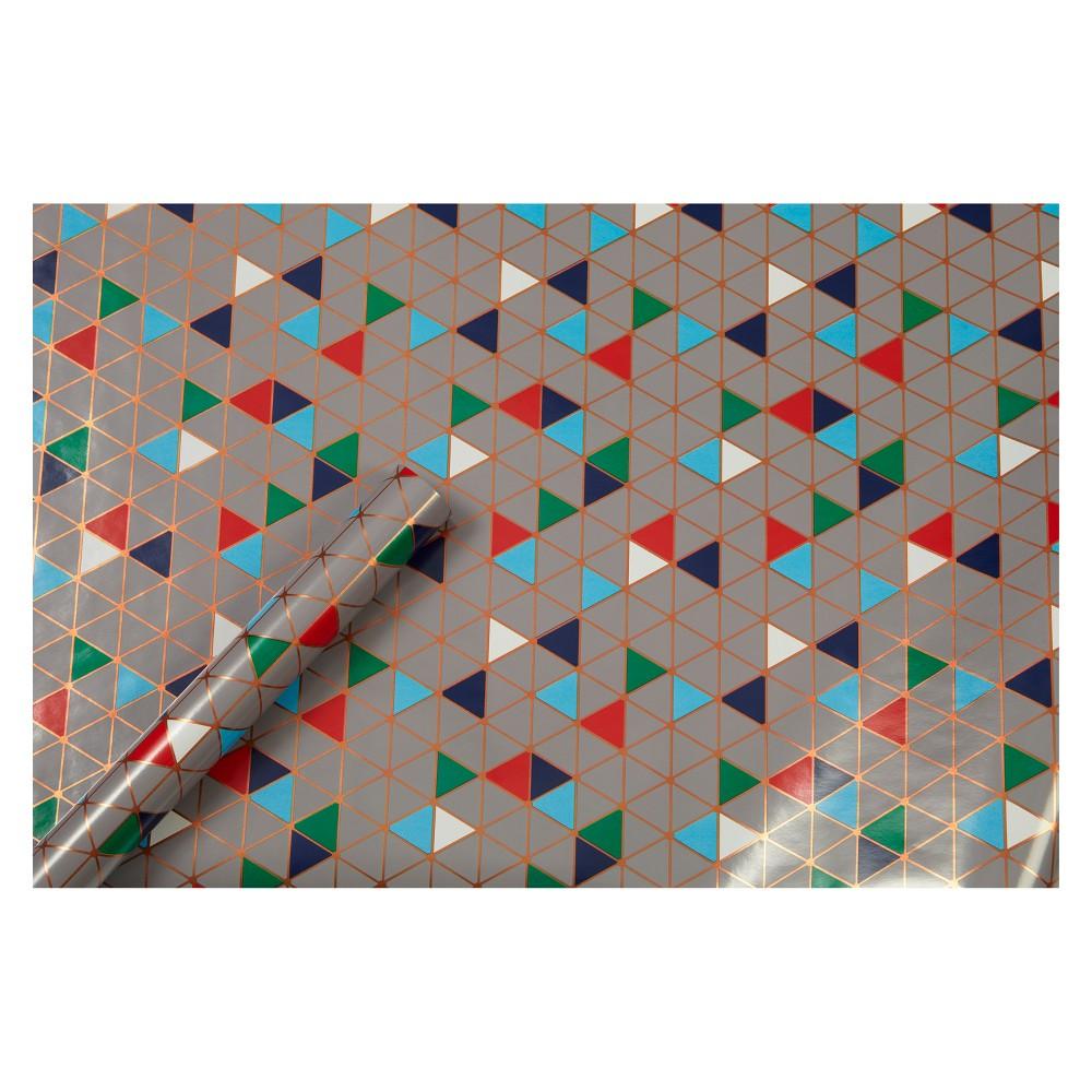 Copper (Brown) Triangles Gift Wrap - Spritz