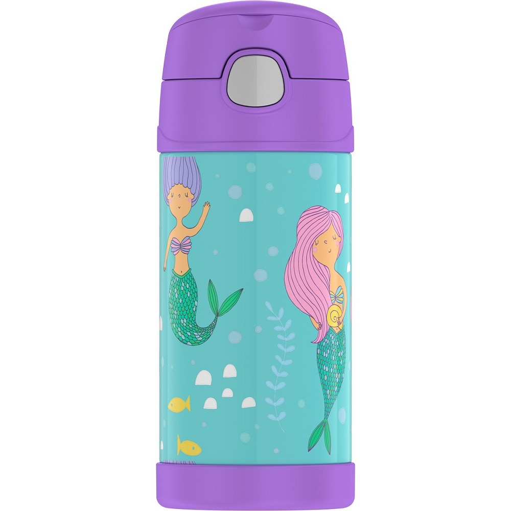 Thermos Crckt 12oz Funtainer Water Bottle - Mermaid, Pink