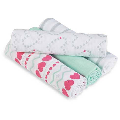54a67caef1b52 Aden® By Aden + Anais® Swaddle - 4pk - Light Hearted   Target