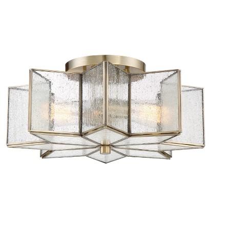 Ceiling Lights Semi Flush Mount Natural Brass Aurora Lighting Target
