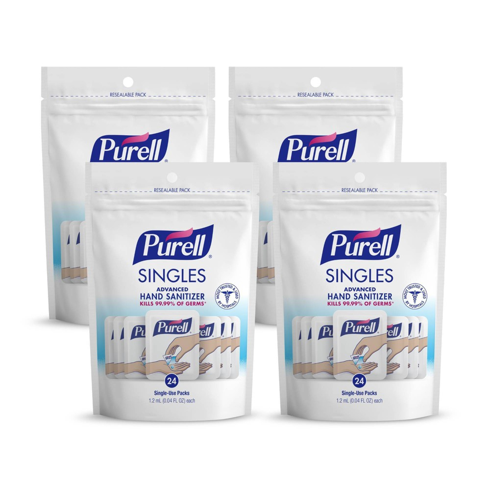 Image of PURELL Singles Advanced Hand Sanitizer Gel with Carry Pouch