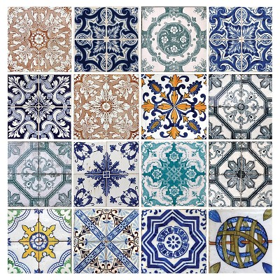 Thirstystone Lisbon Tiles 4 Piece Occasions Coaster Set