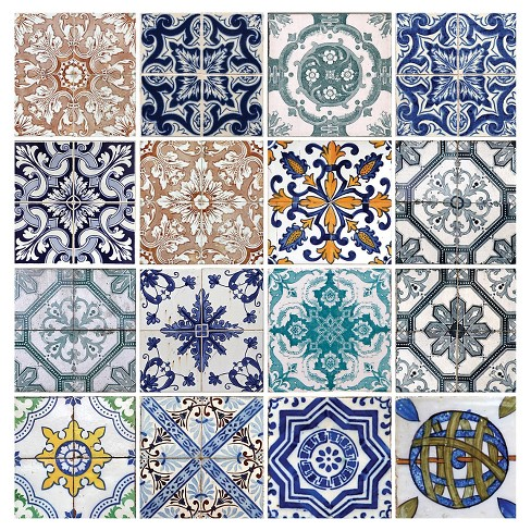 Thirstystone Lisbon Tiles 4 Piece Occasions Coaster Set - image 1 of 1