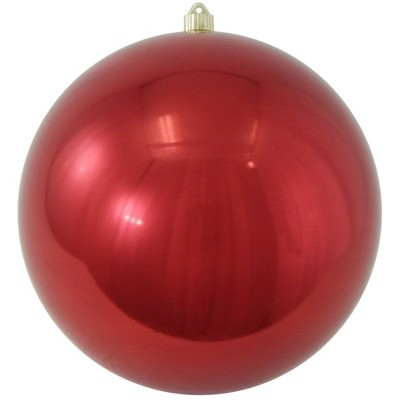 "Christmas by Krebs Sonic Red Shatterproof Christmas Ball Ornament 10"" (250mm)"