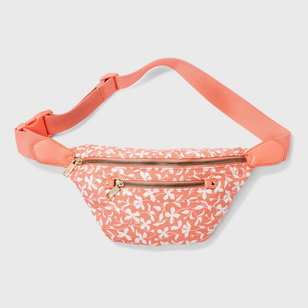 Women 39 S Floral Print Zip Closure Fanny Pack A New Day 8482 Blush Peach
