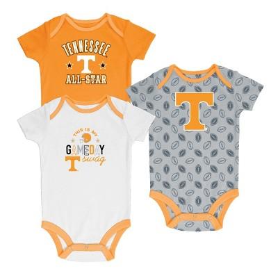 Tennessee Volunteers Baby Boys' 3pk Short Sleeve Bodysuits 0-3M