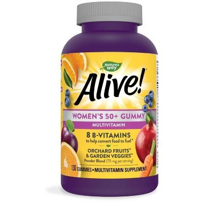 Nature's Way Alive! Women's 50+ Multivitamin Gummies - Fruit - 130ct