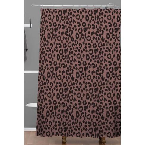 Leopard Love Shower Curtain Black