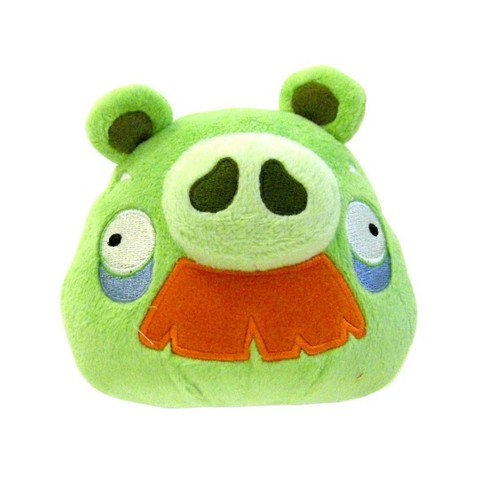 """Commonwealth Toys Angry Birds 8"""" Moustache Pig Plush Officially Licensed - image 1 of 1"""