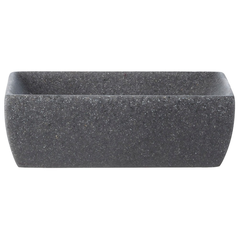 Image of Charcoal Stone Soap Dish Gray