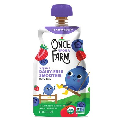 Once Upon a Farm Organic Berry Berry Kids Dairy-Free Smoothie - 4oz