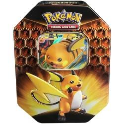 2019 Pokemon Trading Card Game Hidden Fates Fall Tin featuring Raichu GX