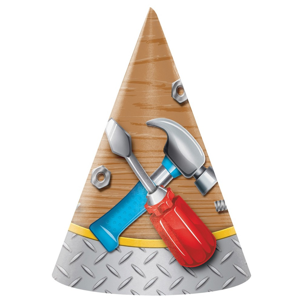 Image of 8ct Handyman Party Hats