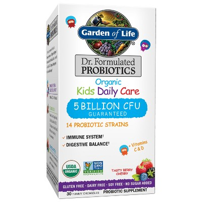 Kid's Garden of Life Dr. Formulated Organic Probiotic Daily Chewables - Berry & Cherry - 30ct